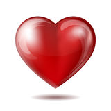 Red heart icon  on white Stock Photo