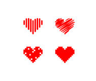 Red heart icons Royalty Free Stock Photography