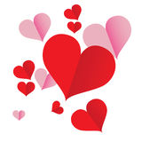 Red heart iconVol5. Red Heart icon for Graphic designs Royalty Free Stock Photography