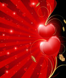 Red heart illustration Royalty Free Stock Photography