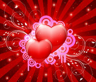 Red heart illustration Stock Images