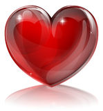 Red heart illustration. An illustration of a bright shiny red heart shaped symbol Stock Photography