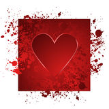 Red heart illustration. An illustration of a red heart with splatter on a white background Royalty Free Stock Photo