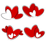 Red heart illustration Stock Photography