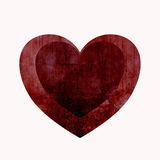 Red heart. An image of a red heart with grungy textures royalty free stock photo