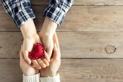 Free Red Heart In Hands Royalty Free Stock Photo - 105595245