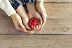Free Red Heart In Hands Royalty Free Stock Images - 105595349