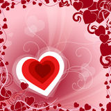 Red Heart Indicates Valentines Day And Background Royalty Free Stock Photography