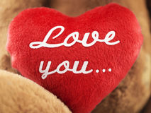 Red heart with the inscription Stock Image