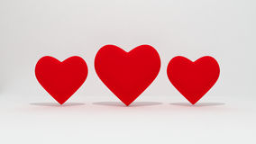 Red heart isolate Royalty Free Stock Photos