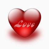 Red heart isolated Royalty Free Stock Photography