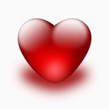 Red heart isolated Stock Image