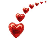 Red heart. Isolated on white Stock Images