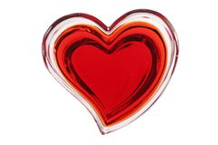 Red heart isolated on white background. Red transparant heart isolated on white background Royalty Free Stock Photography