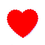 Red heart isolated on white background Royalty Free Stock Photo