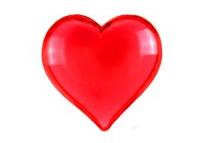 Red heart isolated Stock Photo