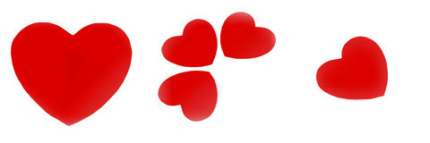 Red heart isolated on white Royalty Free Stock Photo