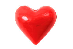 Red heart isolated Stock Images