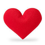 Red heart isolated on white Royalty Free Stock Photos