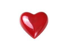 Red heart isolated on white background stock images