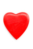 Red heart isolated on white Royalty Free Stock Photography
