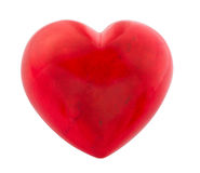 Red heart isolated on white Royalty Free Stock Image