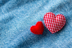 Red heart with jeans. Stock Photography