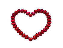 Red heart jelly bean  on white Royalty Free Stock Images