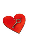 Red heart and key Stock Photo