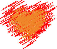 Red heart from lines Royalty Free Stock Photo