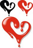 Red heart from the liquid Royalty Free Stock Photography