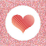 Red heart and little hearts around. Valentines Day background Stock Photography