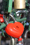 Red heart lock Royalty Free Stock Image