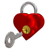 Red heart lock Royalty Free Stock Photos