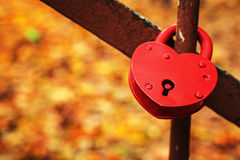 Red heart lock Royalty Free Stock Images