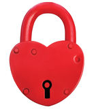 Red Heart Lock Padlock Romance Love Valentine Day Concept, Large Royalty Free Stock Images
