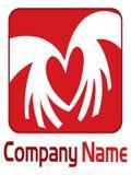 Red heart logo Stock Photos