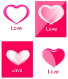 Red Heart Logo Set Collection Royalty Free Stock Photo