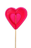 Red heart-lollipop Stock Photos