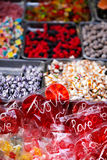 Red heart lollipop Stock Photo