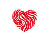 Red heart lollipop Stock Image