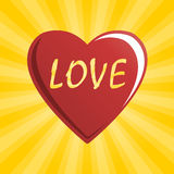 Red Heart of Love Stock Photography