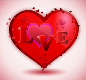 Red heart Love Royalty Free Stock Photography