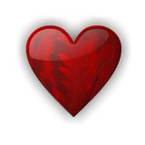 Red heart love Stock Photo