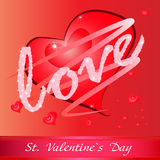 Red heart with love Royalty Free Stock Image