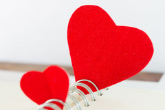 Red heart love on book Stock Image