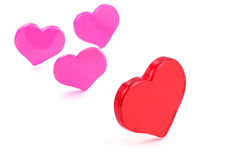 Red heart, love concept stock photography