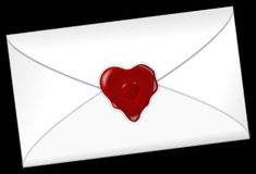 Red, Heart, Love, Envelope Stock Photo