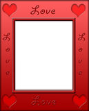 Red Heart Love Frame Border stock photography
