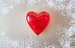 Red heart for love or health Royalty Free Stock Images